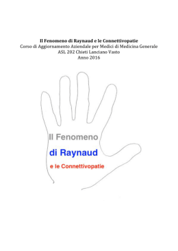 Fenomeno di Raynaud e le connettivopatie C