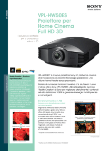 VPL-HW50ES Proiettore per Home Cinema Full HD 3D