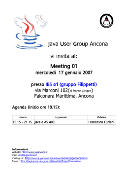 Java User Group Ancona vi invita al: Meeting 01