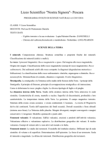 scienze - v scientifico