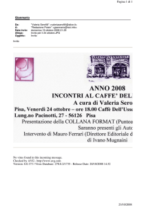 Gianmario Pagina 1 di 1 23/10/2008 No virus found in this incoming