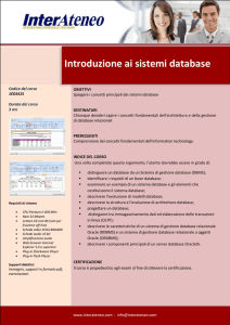 Introduzione ai sistemi database