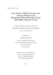 PhD Thesis: Low-Noise CMOS Circuits and - ETH E