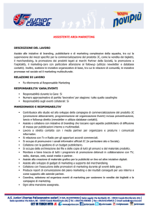 """Assistente Area Marketing/Commerciale""."