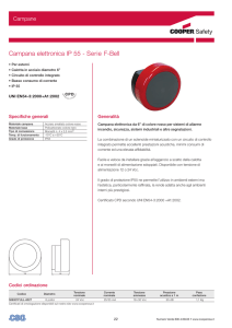 Campana elettronica IP 55 - Serie F-Bell