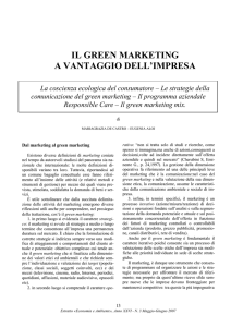 Il green marketing a vantaggio dell`impresa