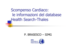 Scompenso Cardiaco: le informazioni del database Health Search