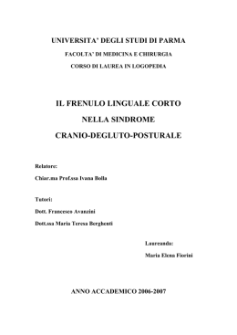 Il frenulo linguale corto