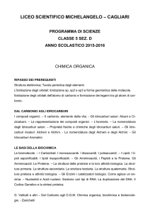 Scienze - Liceo Scientifico Michelangelo