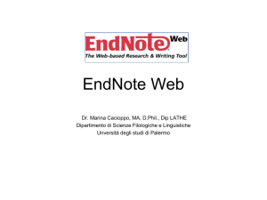Tutorial EndNote Web in italiano