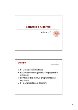 Software e Algoritmi
