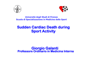 Sudden Cardiac Death during Sport Activity Giorgio Galanti