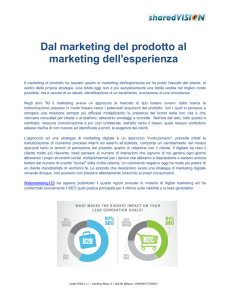 Dal marketing del prodotto al marketing dell