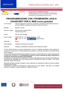 programmazione con i framework java e javascript per - Forma-re-te