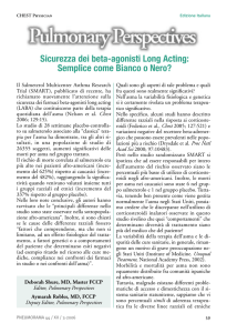 Sicurezza dei beta-agonisti Long Acting: Semplice come