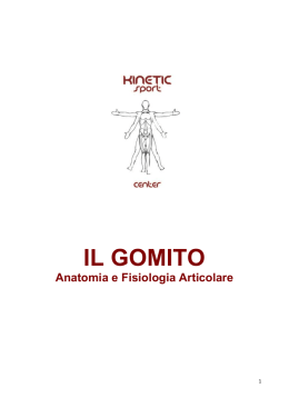il gomito - Kinetic Sport Center