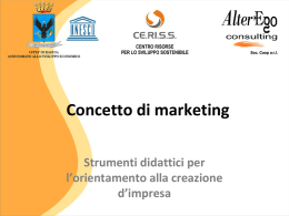 Concetto di marketing
