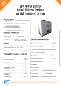 QDP POWER CENTER Quadri di Bassa Tensione per distribuzione