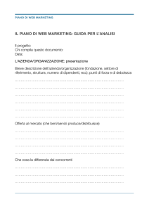 Piano di Web Marketing - Camera di commercio di Macerata
