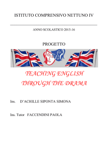 Progetto Teaching English trough the Drama