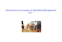 Introduzione al processo di Marketing Management