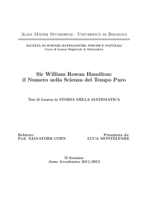 Sir William Rowan Hamilton: il Numero nella Scienza del Tempo Puro