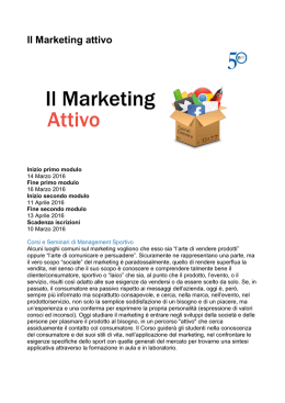 Il Marketing attivo