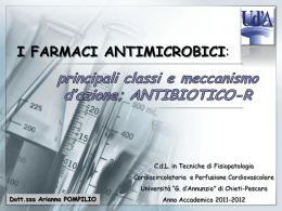 FARMACI ANTIMICROBICI ed ANTIBIOGRAMMA