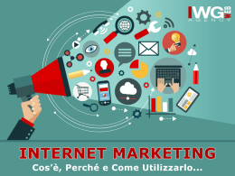 Scarica la Presentazione IWG Web Marketing