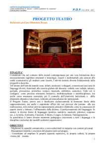 progetto teatro - LICEO SCIENTIFICO F. BRUNO