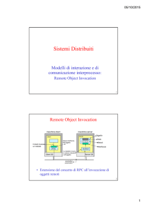 Distributed objects:Java RMI - Dipartimento di Ingegneria Industriale