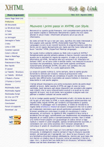 Primi passi in XHTML e CSS di Web-Link.it