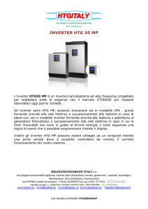inverter htg 50 mp - htgitaly Tecnologie Ambientali Applicate Sistemi