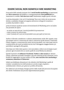 ESSERE SOCIAL NON SIGNIFICA FARE MARKETING