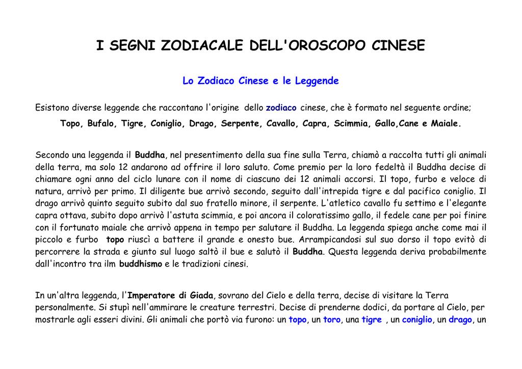 Calendario Cinese Segno Zodiacale.Clicca Qui Per Aprire Il Pdf Dei Segni Zodiacali Cinesi