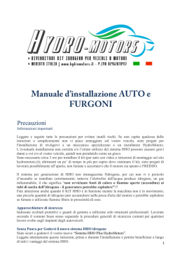 DOWNLOAD DEL MANUALE di INSTALLAZIONE per