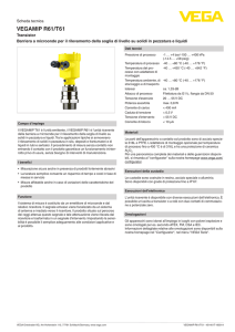 Data sheet - VEGAMIP R61/T61 - Transistor Barriera a microonde