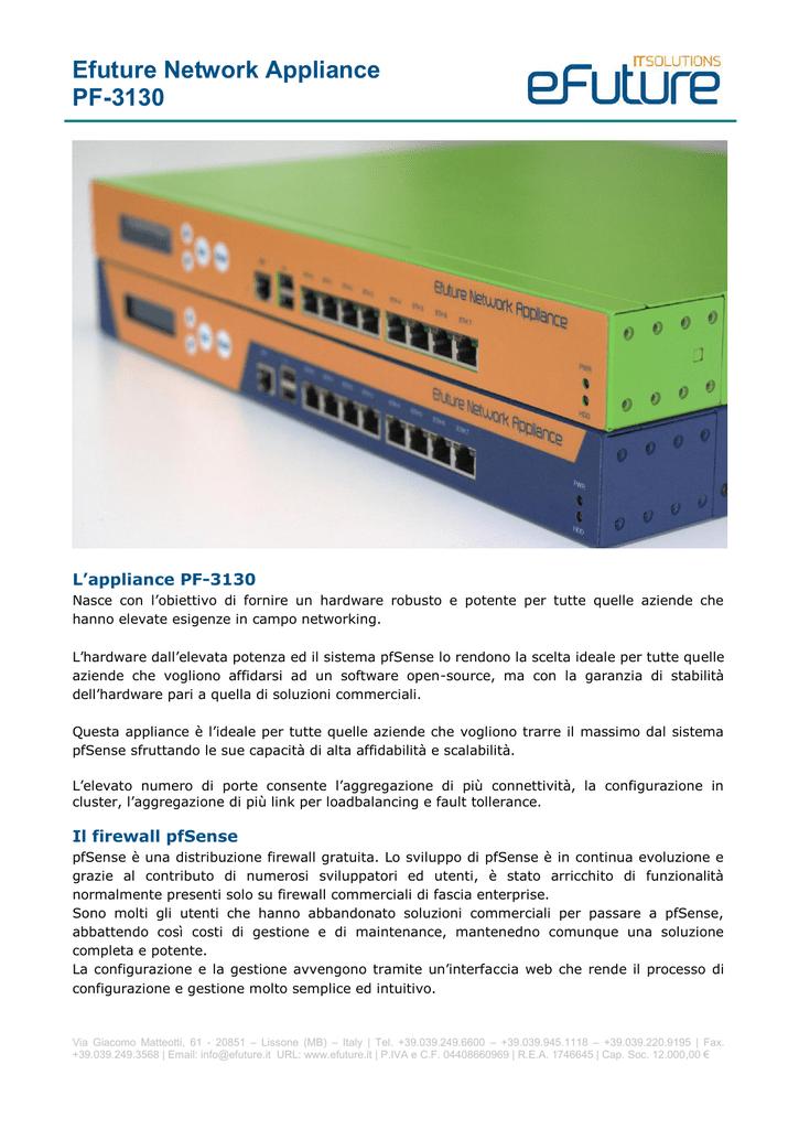 pf-3130 Specifiche Tecniche