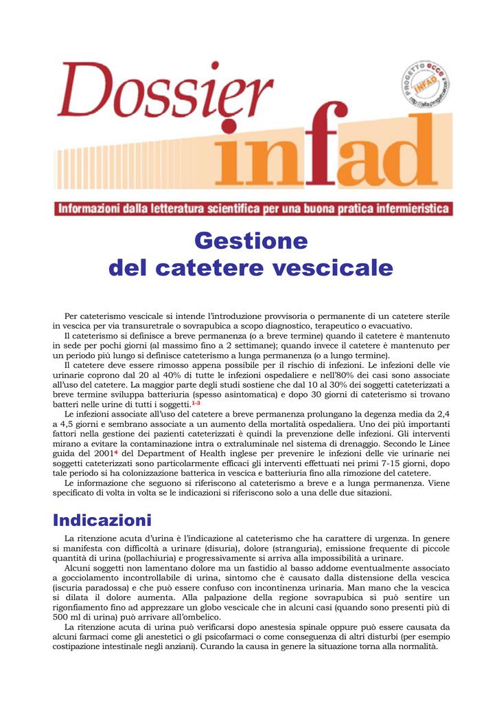 Gestione Del Catetere Vescicale