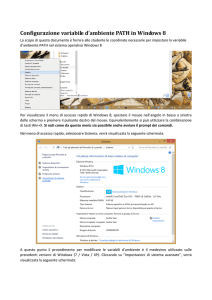 Configurazione variabile d`ambiente PATH in Windows 8