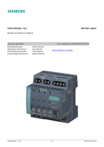 Siemens Sirius INTERRUTTORE Tipo 3rv1021-4ca10 corrente CLIPS 17-22a