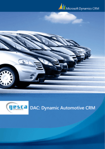 DAC: Dynamic Automotive CRM