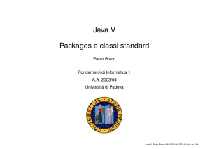 Java V Packages e classi standard - IsIB