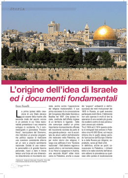 L`origine dell`idea di Israele