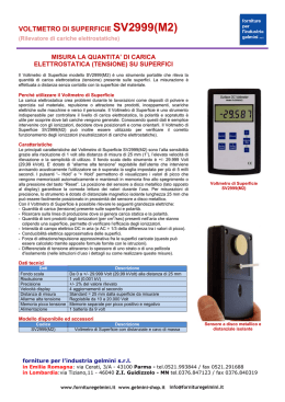 voltmetro di superficie sv2999(m2) - Forniture per l`industria Gelmini