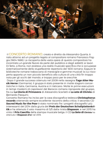 visualizza curriculum concerto romano
