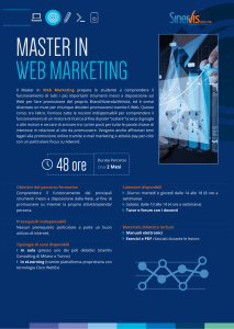 Il Master in Web Marketing prepara lo studente a comprendere il