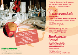 Brunch in chiave musicale Musikalischer Brunch