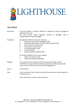 Scheda-Java Base - Lighthouse Languages