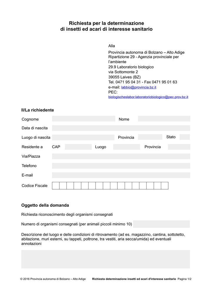 Richiesta Di Interesse Insetti Ed La Determinazione Per Acari 4RjL35A